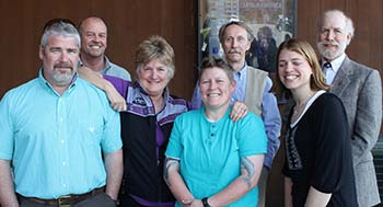 The 2014-2015 executive committee, left to right: Miller, Duffy, Hart, Bauer, Lewis, Korbe and Herbert.