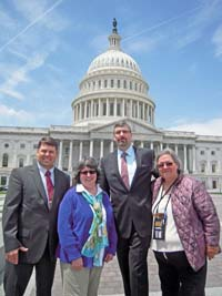 Council representatives visited Washington, D.C. in May. Left to right: Mark Swanson, Dorothy Moore, Steve Rothchild, and Patience Andersen Faulkner. Photo by Roy Jones.