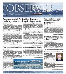 The Observer front cover May 2015