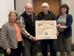Photo of appreciation gift presented to Doug Mertz and Margo Waring.