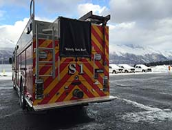 "Alyeska's new fire and rescue engine, known as ""Squad 1,"" is at the terminal and ready for action. Photo courtesy of Alyeska."