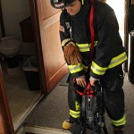 Among the dangers that firefighters responding to a marine vessel fire might encounter are small, smoky, dark spaces. Photo by Nelli Vanderburg.