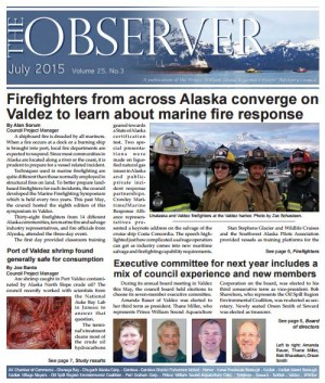 Cover of July 2015 Observer newsletter