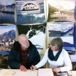 Linda Robinson and board member Jim Herbert at the PWSRCAC booth at Kodiak Comfish 2013
