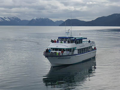 Kenai Fjords Tours' vessel, the Glacier Explorer, ferried participants around the training.