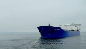 Escort tug Courageous damages the tanker Polar Endeavour in January incident