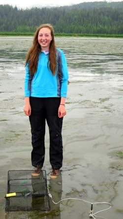 Sarah Hoepfner has volunteered to monitor the Cordova area for invasive green crabs.