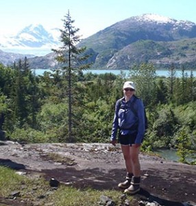 Lindsey Cassidy hiking in Prince William Sound