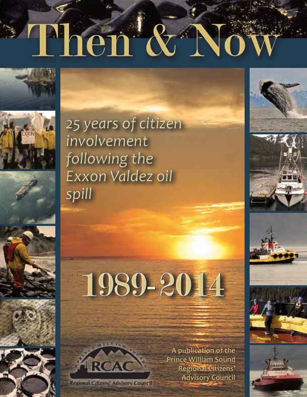Then and Now - 25 years of citizen involvement following the Exxon Valdez oil spill - cover
