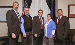 Rothchild, Beedle, Sen. Begich, Moore, Swanson. Photo courtesy of Sen. Begich's office.