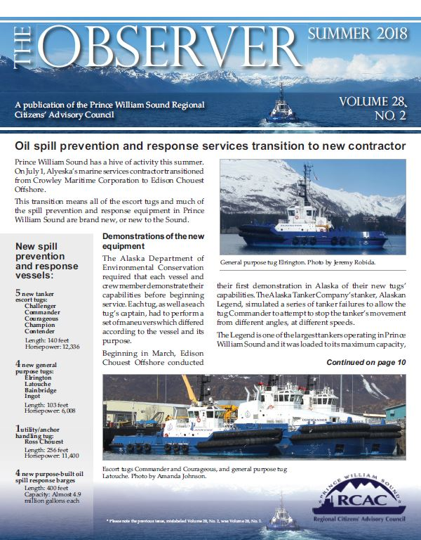 Cover of Summer 2018 Observer newsletter